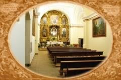 Interior de la ermita de la Virgen de Chilla