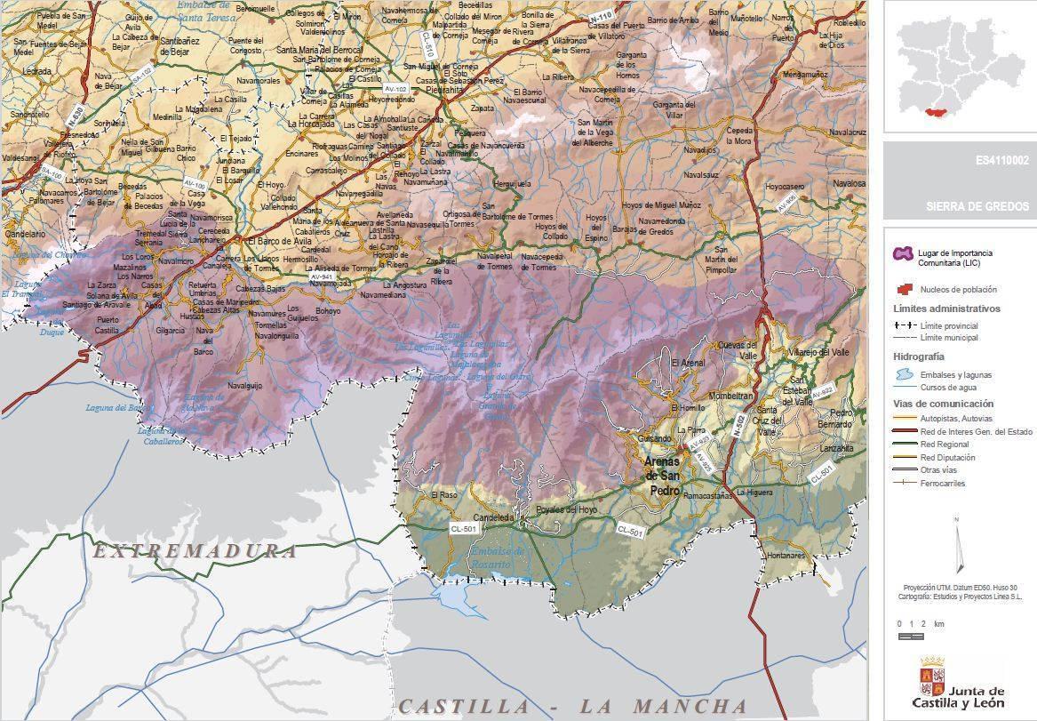 Sierra De Gredos Mapa.Espacios Protegidos Ayuntamiento De Candeleda