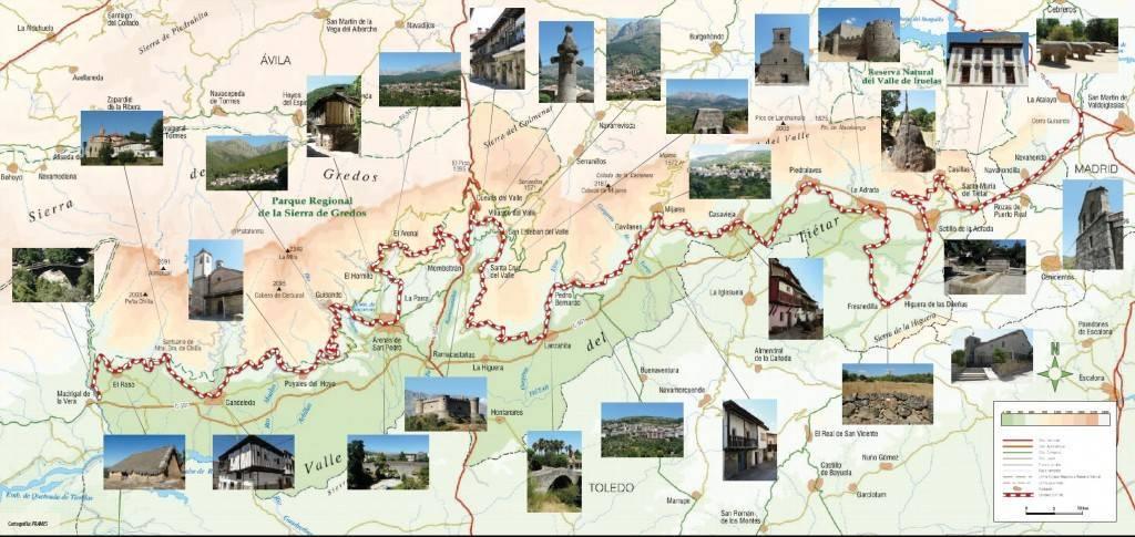 Mapa GR 180