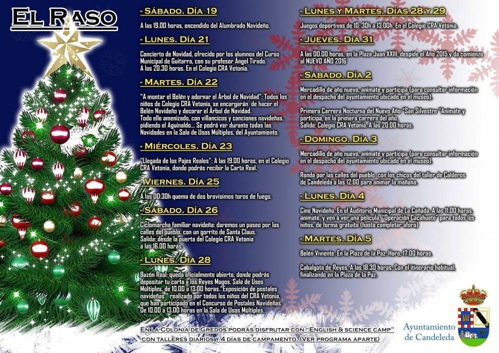 Cartel navidades El Raso
