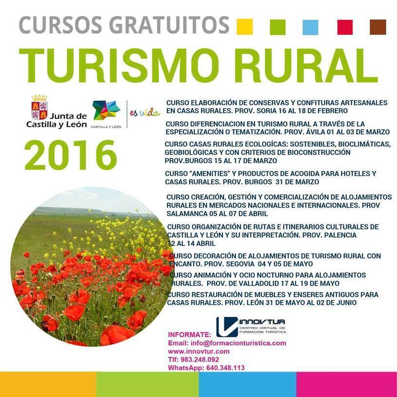 Cursos turismo JCYL 2016