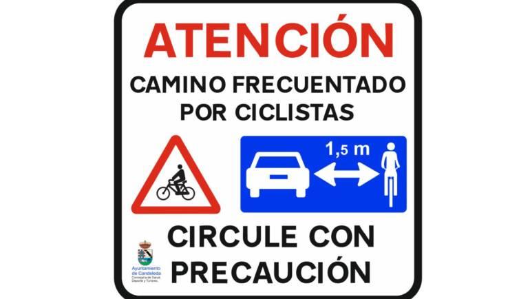 Más seguridad para los ciclistas de Candeleda y El Raso.